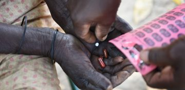 Antibiotic treatment pills against leprosy