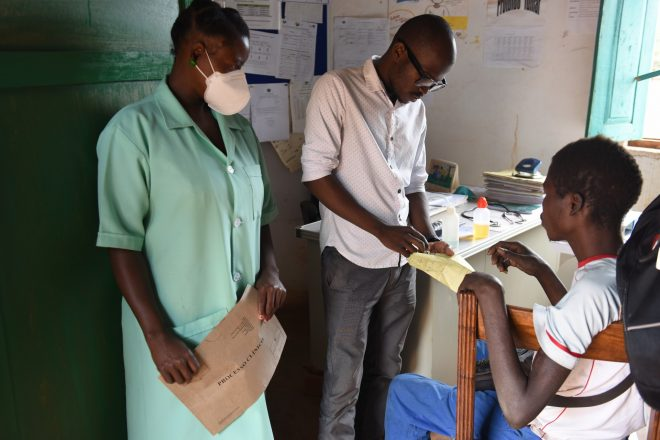 Leprosy doctor and staff in Mozambique at work