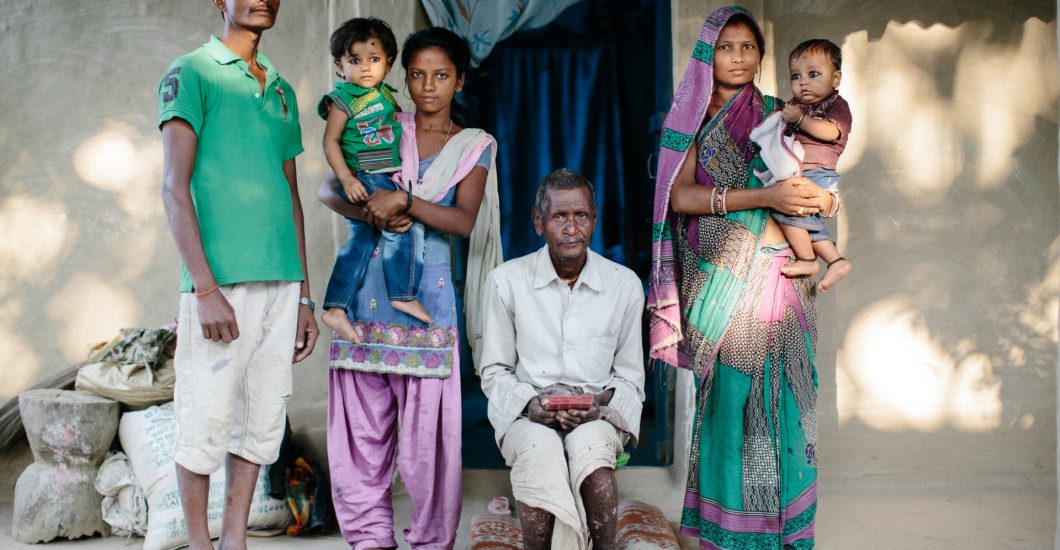 The familie of Rameswor, a person affected by leprosy