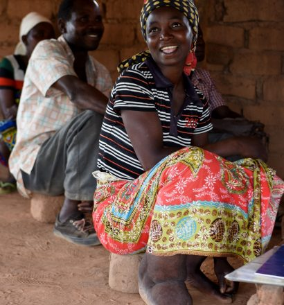 A woman with lymphatic filariasis in Mozambique