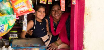 Meet Bimla and her daughter. Bimla is a person affected by leprosy