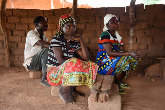 Woman affected by lymphatic filariasis in Mozambique